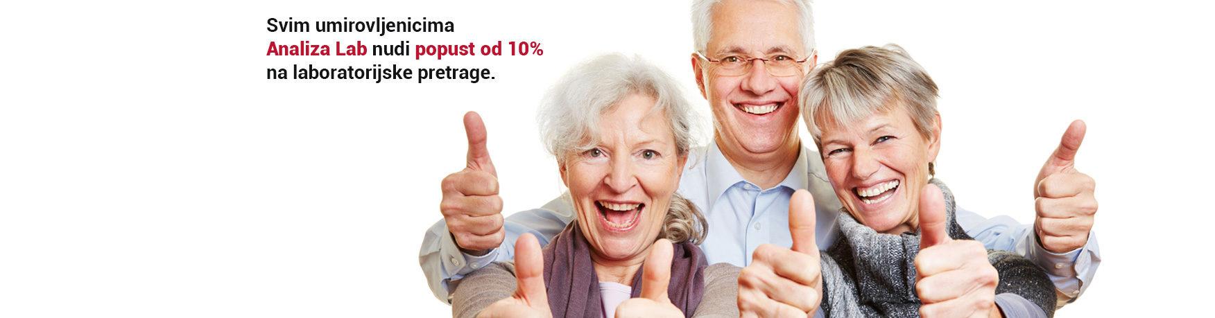 Popust za umirovljenike